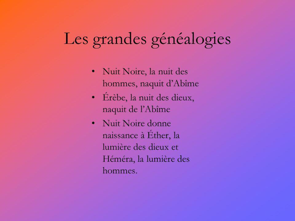 Les grandes généalogies