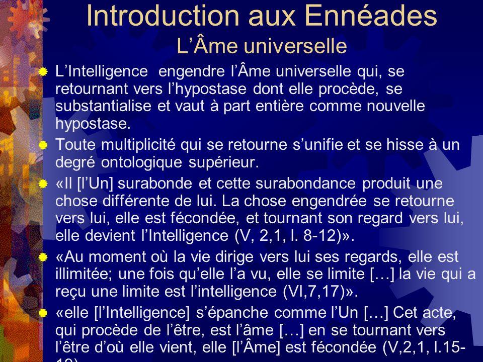 Introduction aux Ennéades L'Âme universelle