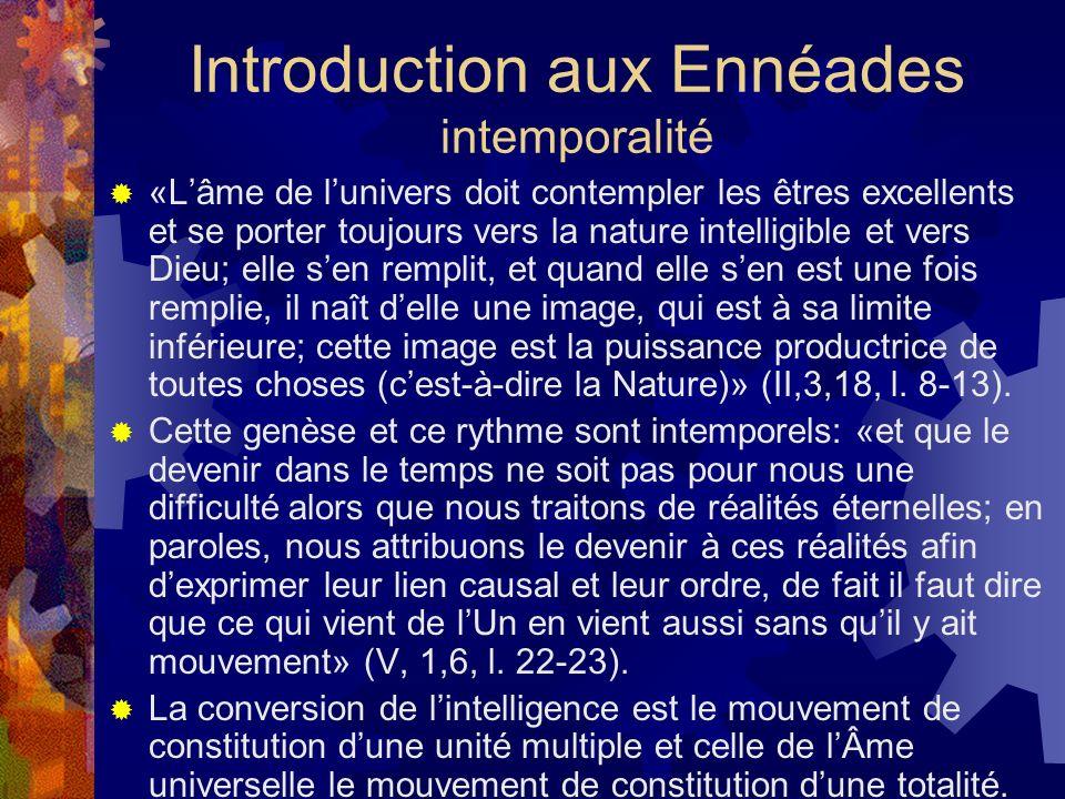 Introduction aux Ennéades intemporalité