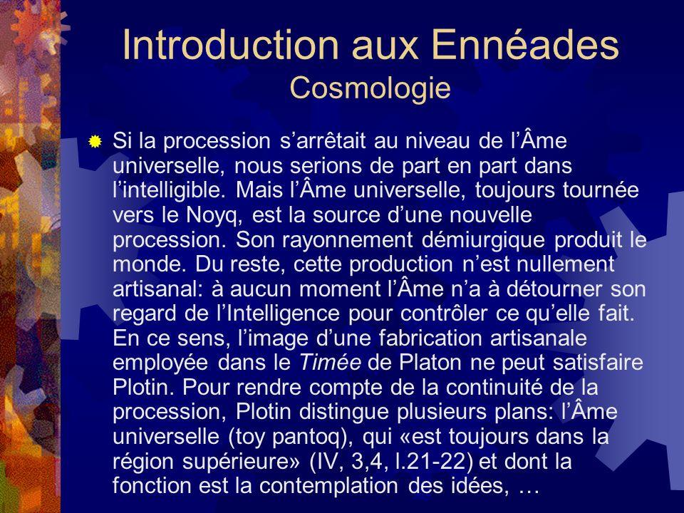Introduction aux Ennéades Cosmologie