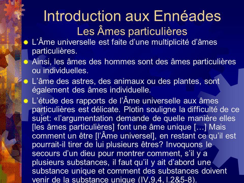 Introduction aux Ennéades Les Âmes particulières