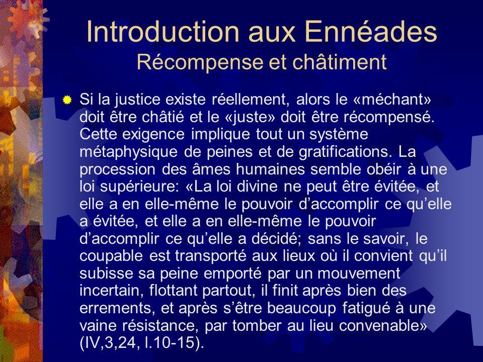Introduction aux Ennéades Récompense et châtiment