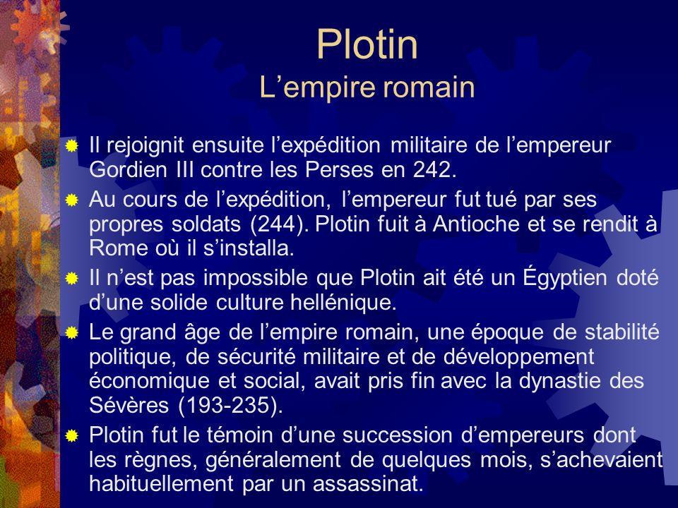 Plotin L'empire romain