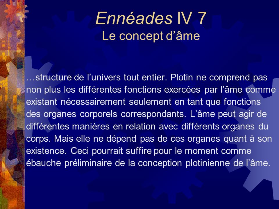 Ennéades IV 7 Le concept d'âme