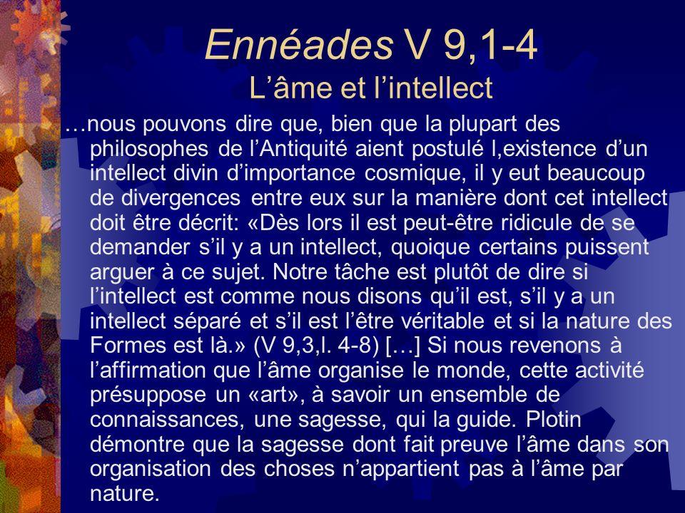 Ennéades V 9,1-4 L'âme et l'intellect