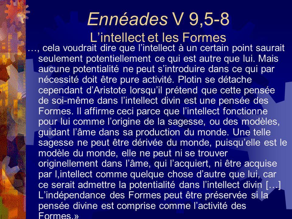 Ennéades V 9,5-8 L'intellect et les Formes