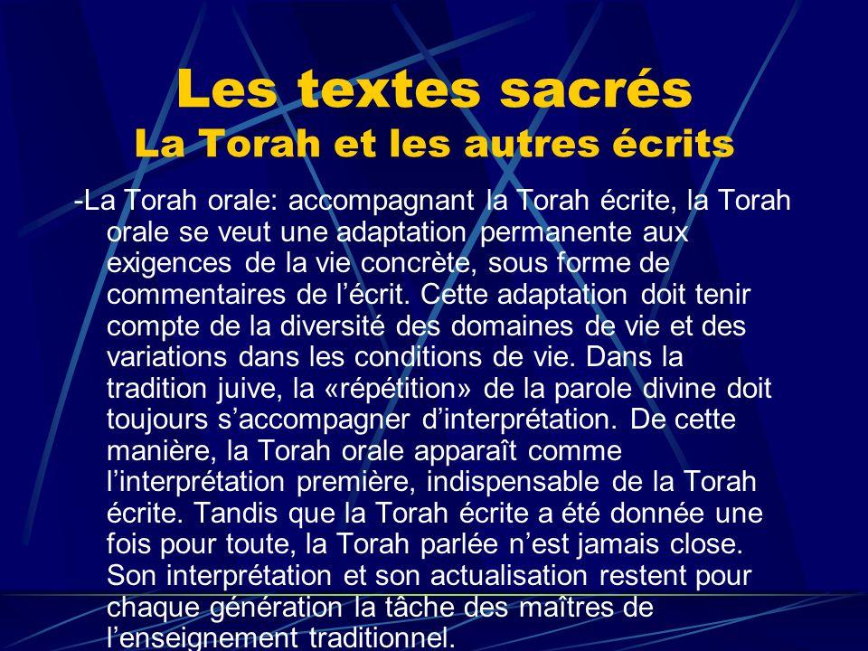 Les textes sacrés La Torah et les autres écrits