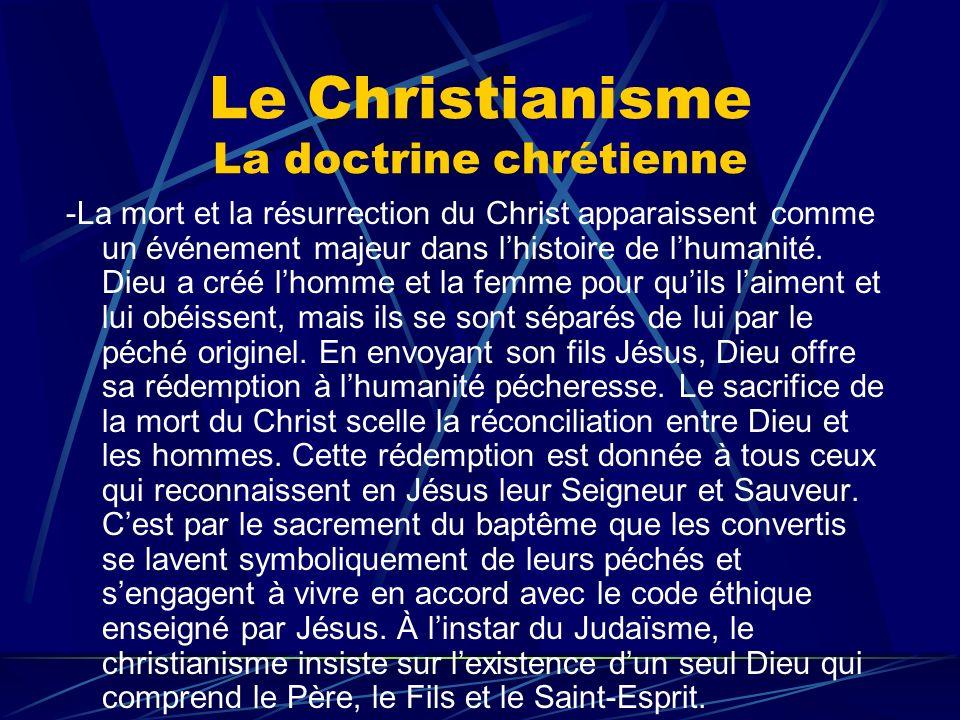 Le Christianisme La doctrine chrétienne