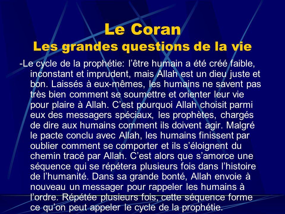 Le Coran Les grandes questions de la vie
