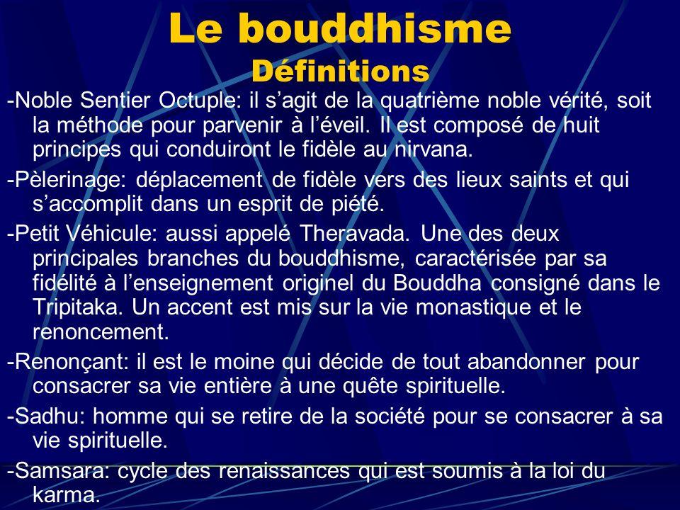 Le bouddhisme Définitions