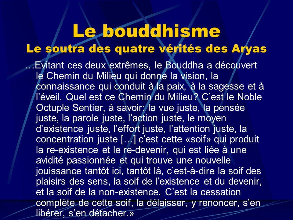 Le bouddhisme Le soutra des quatre vérités des Aryas