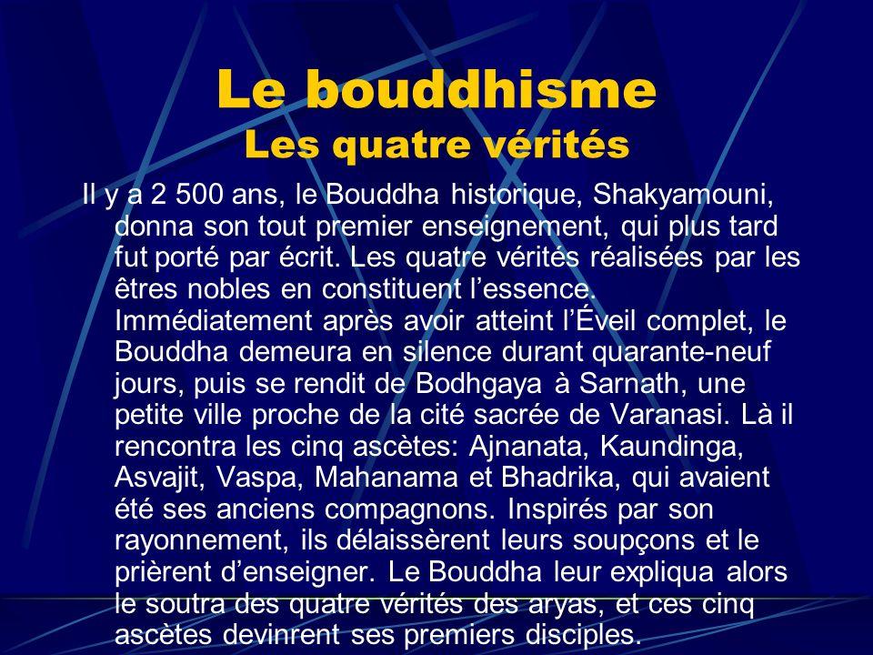 Le bouddhisme Les quatre vérités