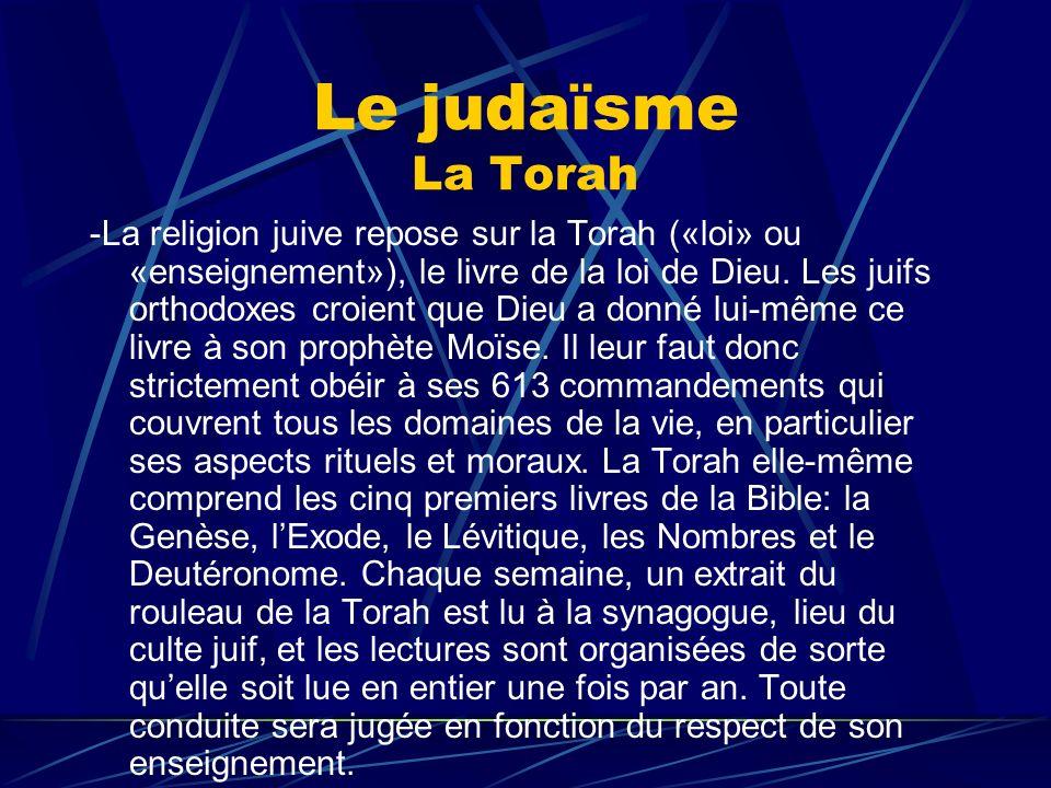 Le judaïsme La Torah