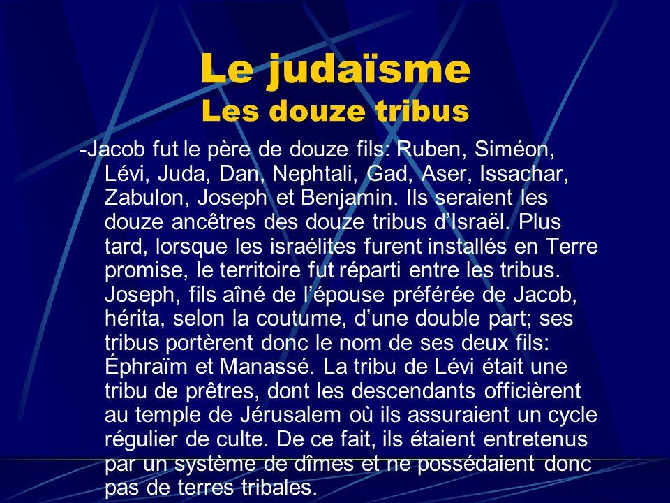 Le judaïsme Les douze tribus