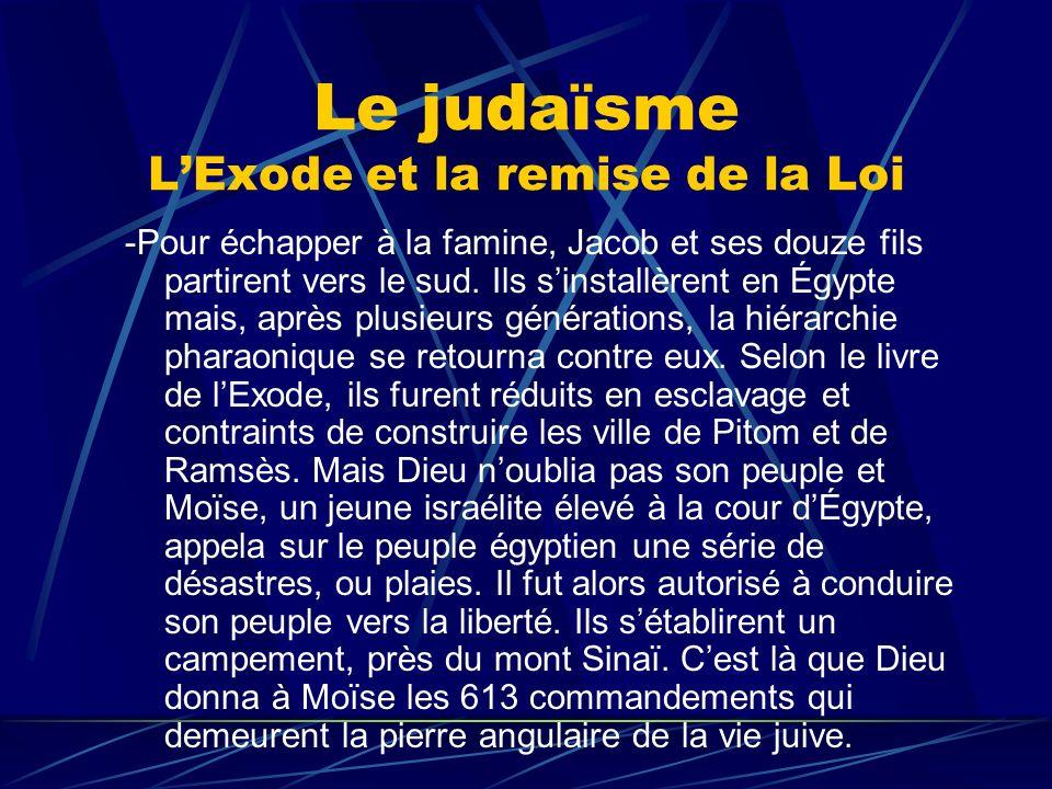 Le judaïsme L'Exode et la remise de la Loi