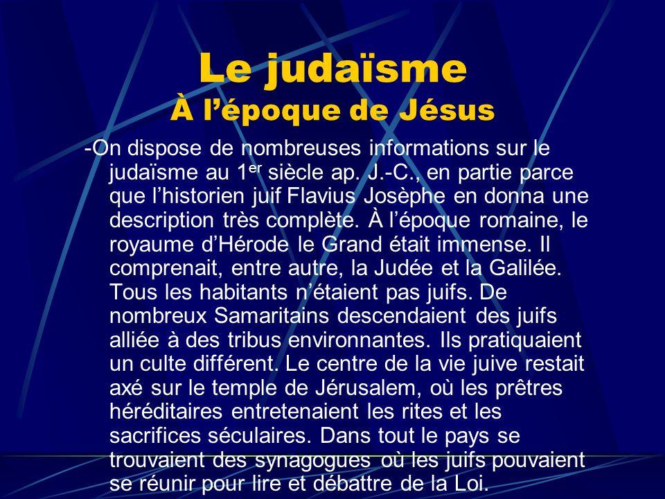 Le judaïsme À l'époque de Jésus
