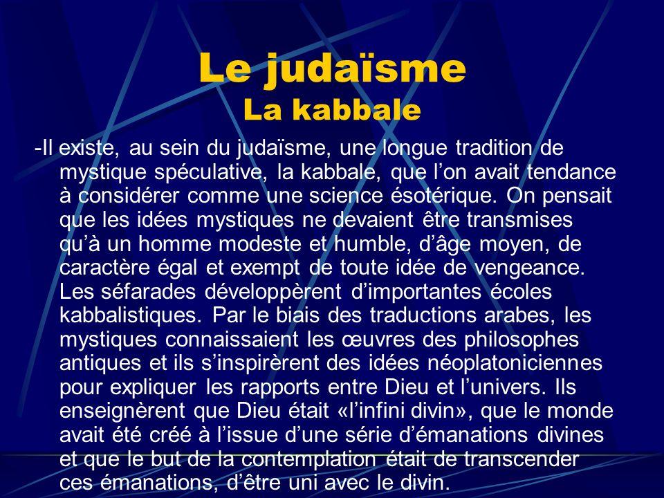 Le judaïsme La kabbale