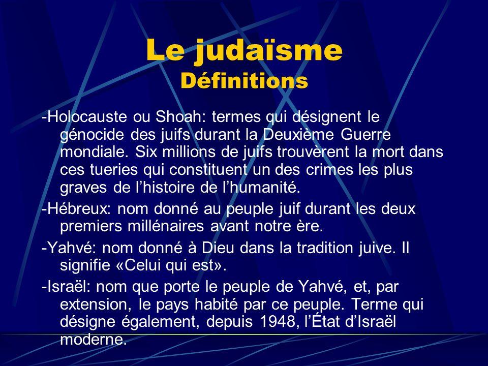 Le judaïsme Définitions
