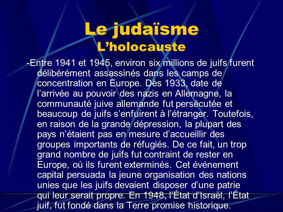 Le judaïsme L'holocauste