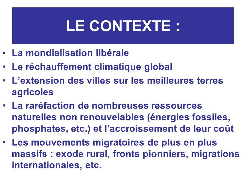 LE CONTEXTE : La mondialisation libérale