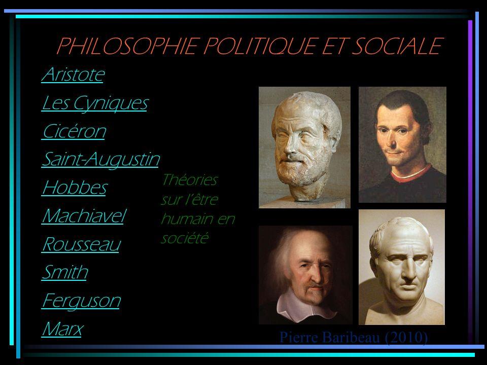 PHILOSOPHIE POLITIQUE ET SOCIALE