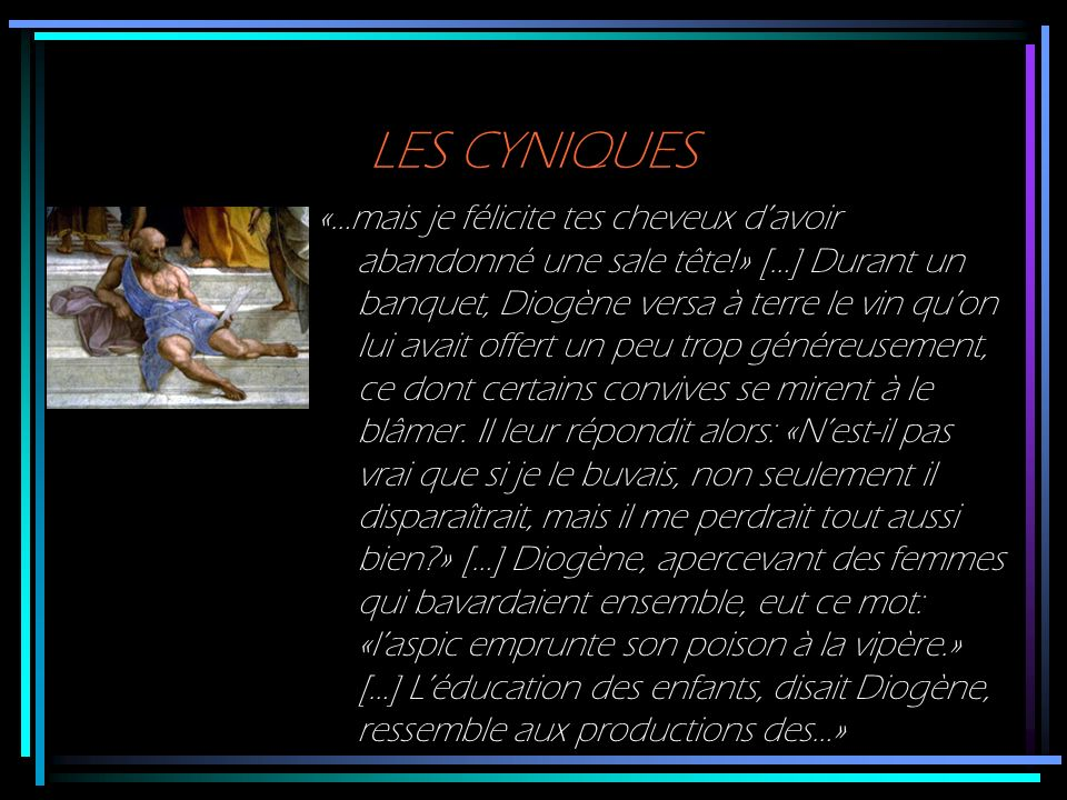 LES CYNIQUES