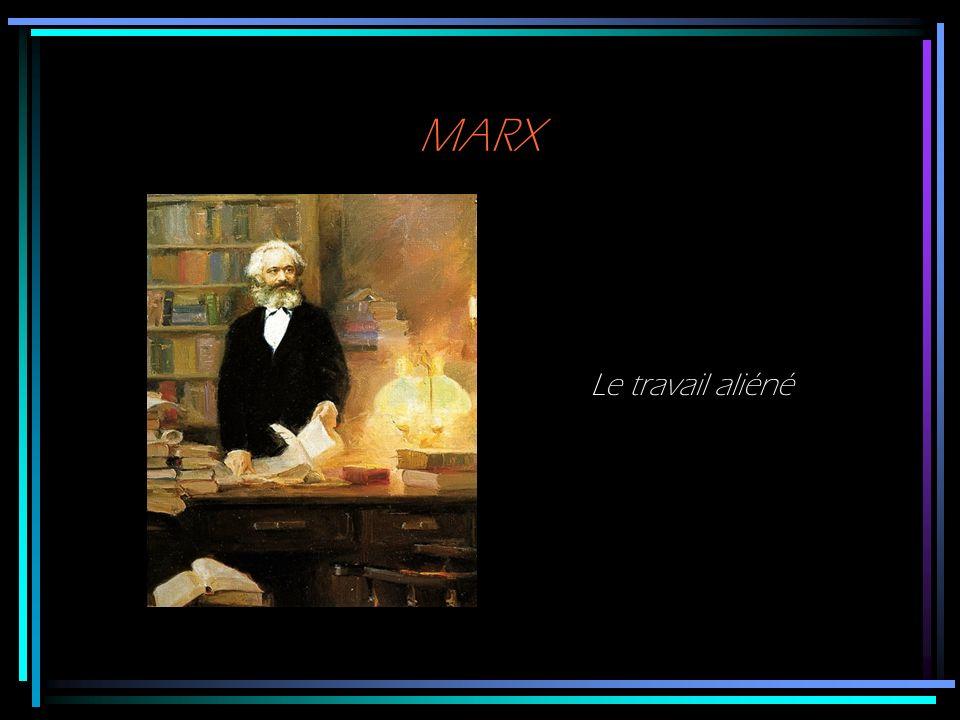 MARX Le travail aliéné