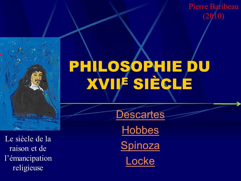 PHILOSOPHIE DU XVIIE SIÈCLE