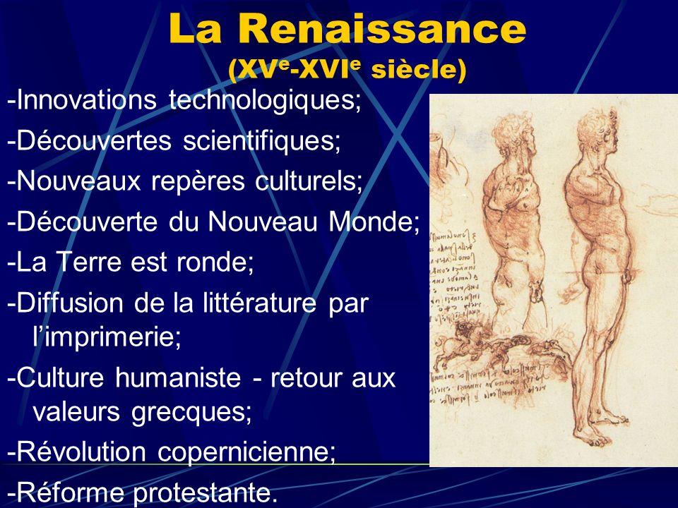 La Renaissance (XVe-XVIe siècle)