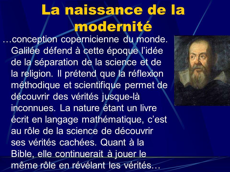 La naissance de la modernité