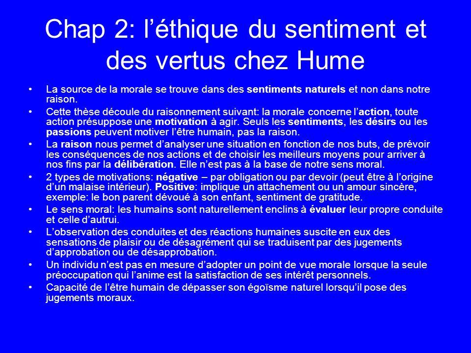 Chap 2: l'éthique du sentiment et des vertus chez Hume