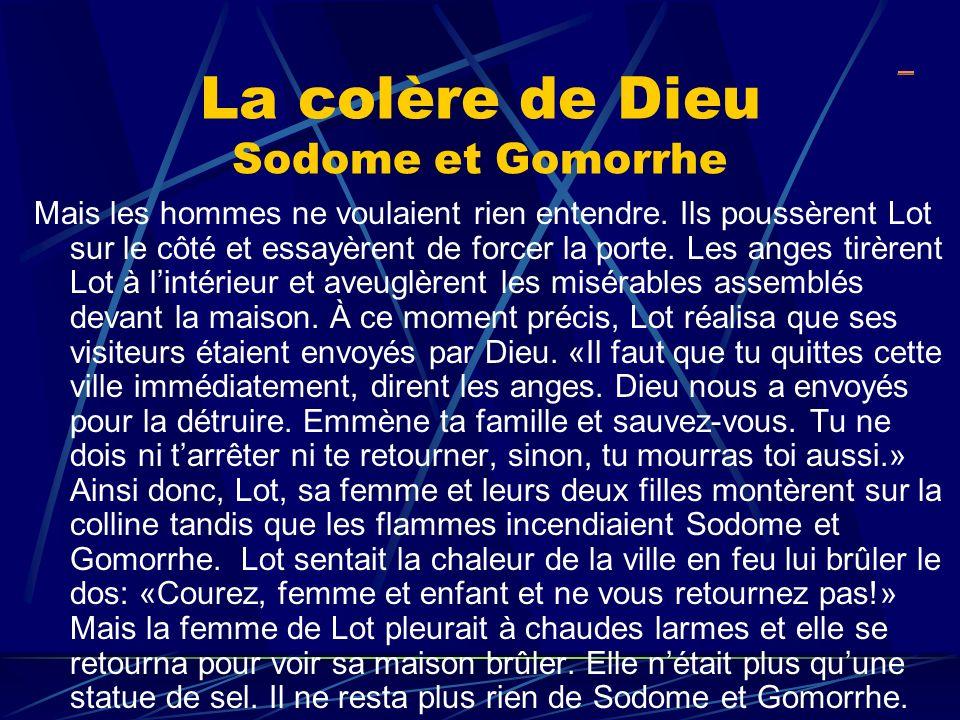 La colère de Dieu Sodome et Gomorrhe