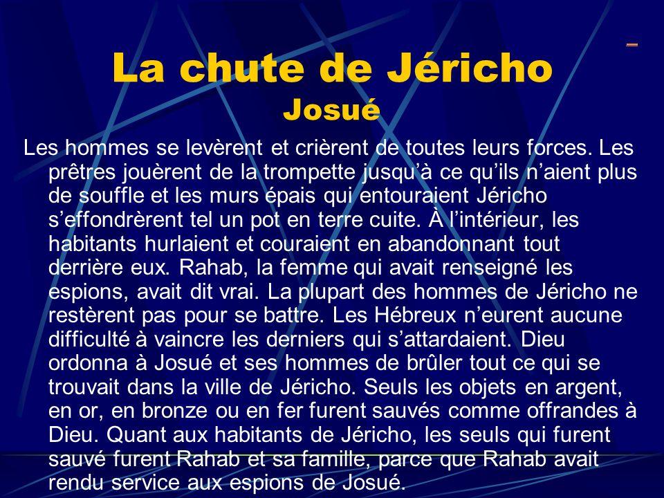 La chute de Jéricho Josué