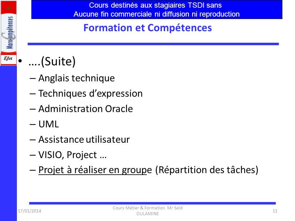 Formation et Compétences