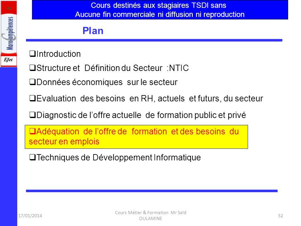 Plan Introduction Structure et Définition du Secteur :NTIC