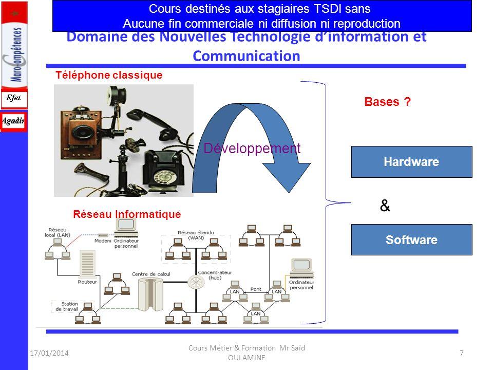 Domaine des Nouvelles Technologie d'information et Communication