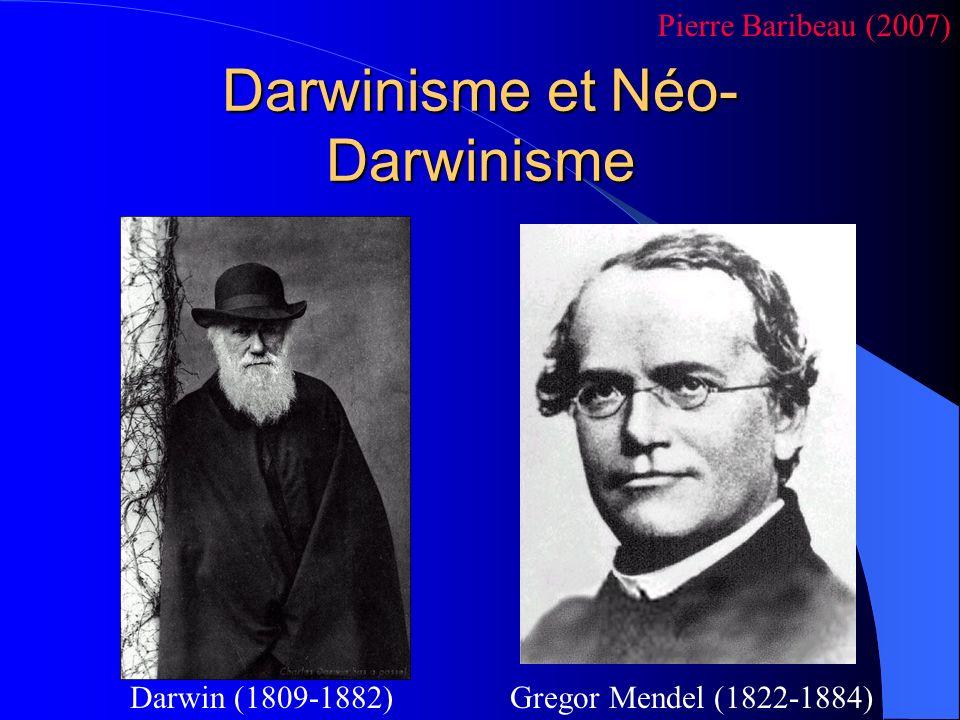 Darwinisme et Néo-Darwinisme