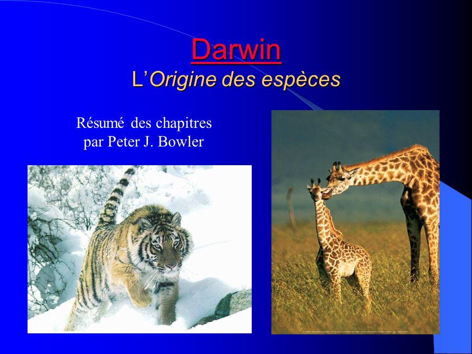 Darwin L'Origine des espèces