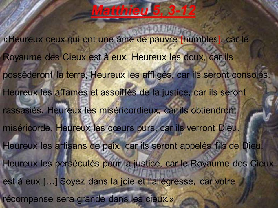 Matthieu 5, 3-12