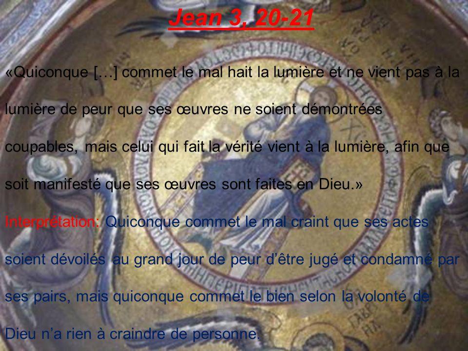Jean 3, 20-21