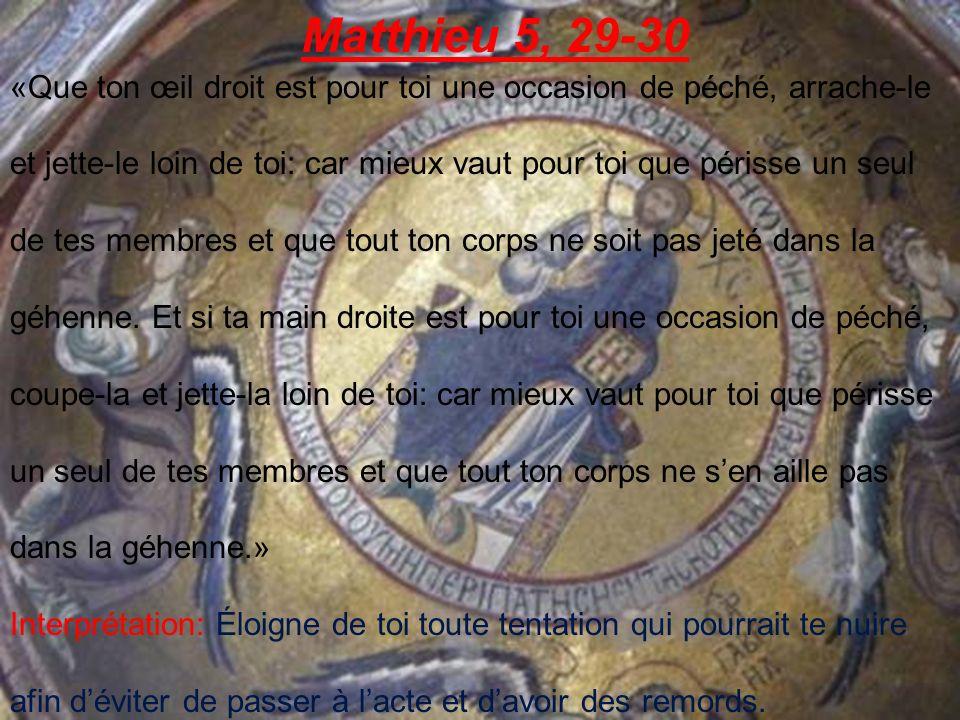 Matthieu 5, 29-30