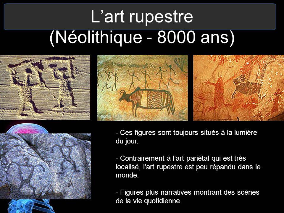L'art rupestre (Néolithique - 8000 ans)