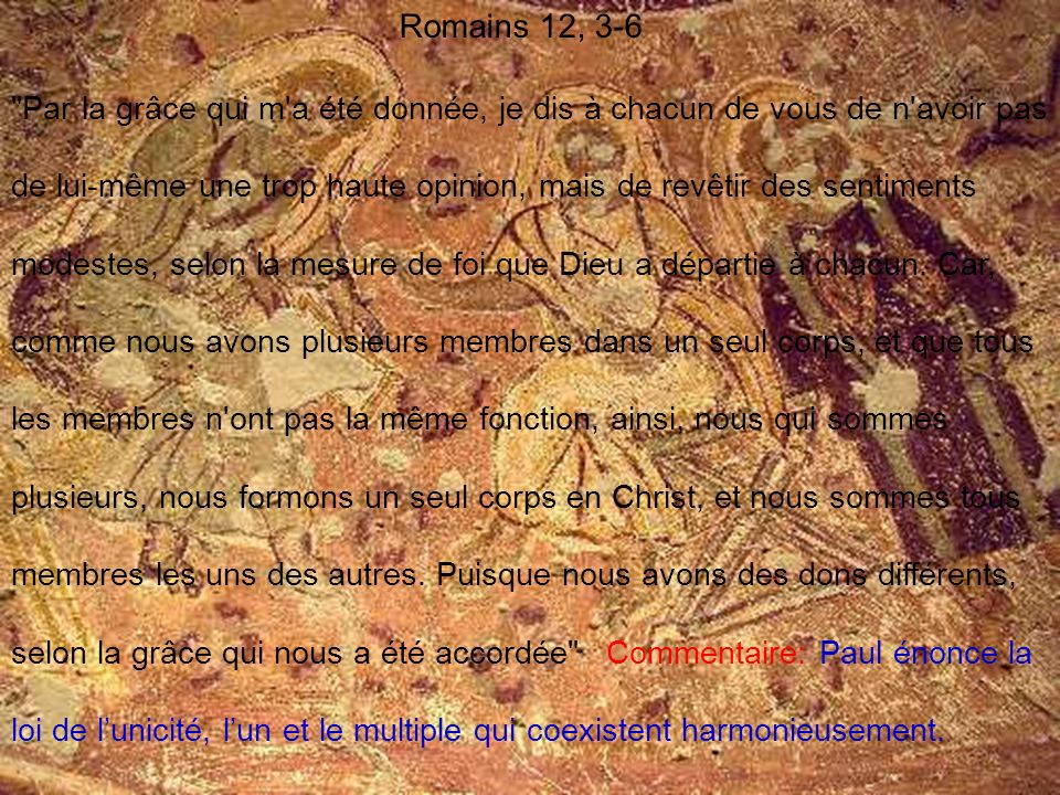 Romains 12, 3-6