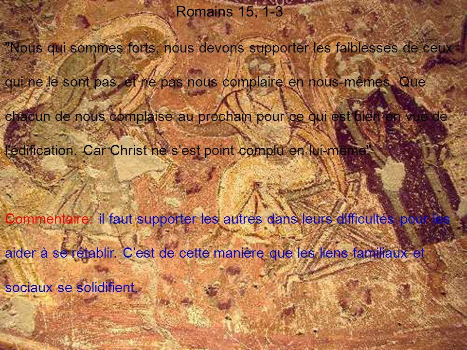 Romains 15, 1-3