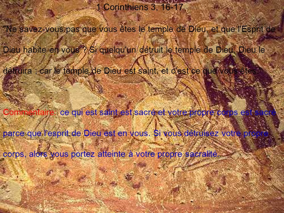 1 Corinthiens 3, 16-17