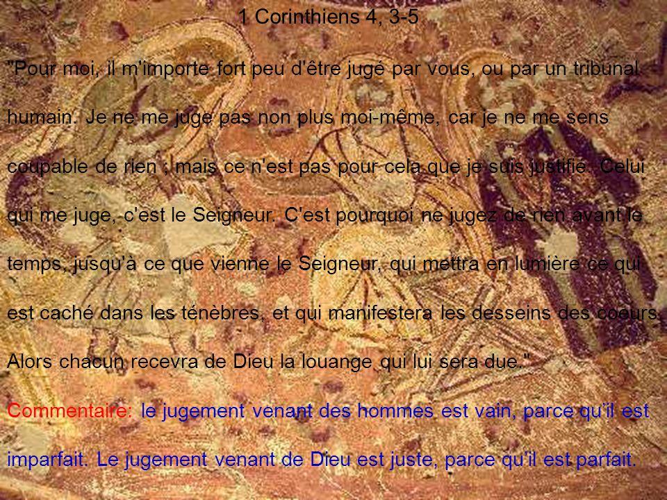 1 Corinthiens 4, 3-5