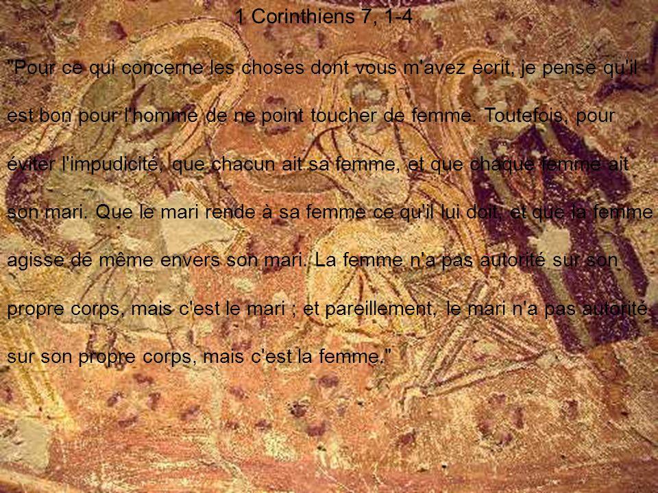 1 Corinthiens 7, 1-4