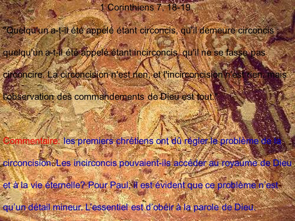 1 Corinthiens 7, 18-19