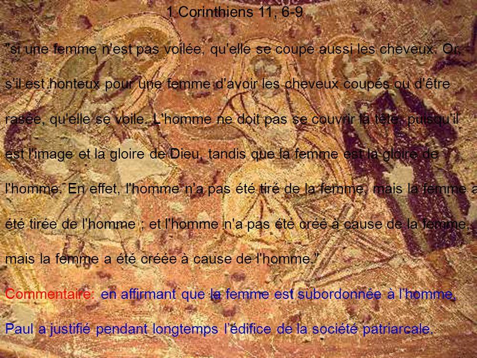 1 Corinthiens 11, 6-9