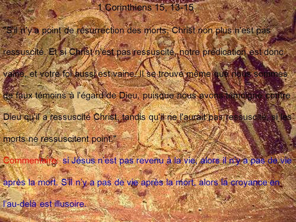 1 Corinthiens 15, 13-15